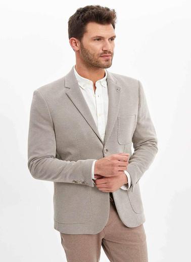 DeFacto Basic Slim Fit Blazer Ceket Bej
